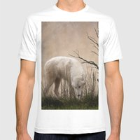 Woodland Wolf Mens Fitted Tee White SMALL