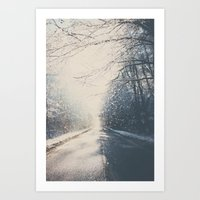 driving home for christmas ...  Art Print