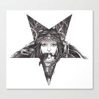 Lady of the Dark Star. Canvas Print