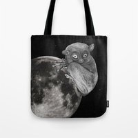 The Tarsius Who Reached His Light Source Tote Bag