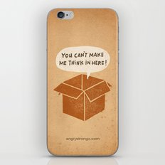 you can't make me think in here iPhone & iPod Skin
