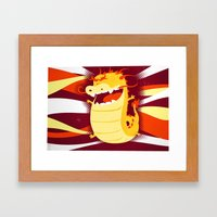 Happy Dragon Framed Art Print