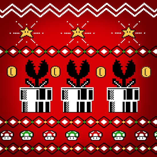 8bitChristmas Canvas Print