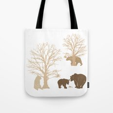Morning Bears In The Woods No. 4 Tote Bag
