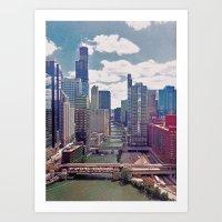 Chicago River View III Art Print
