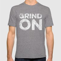 Grind On Mens Fitted Tee Tri-Grey SMALL