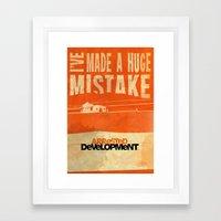 I've Made A HUGE Mistake… Framed Art Print
