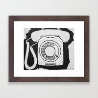 Phone.  Framed Art Print