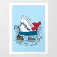 Great White North Shark Art Print
