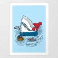 Great White North Shark Art Print
