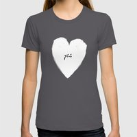 yes! Womens Fitted Tee Asphalt SMALL