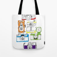 Colorful Cameras Tote Bag