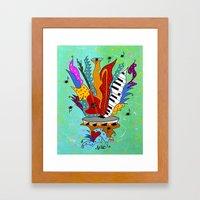 Blooming Notes V. Framed Art Print