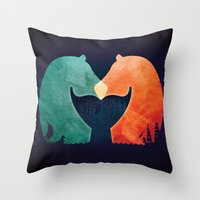 A Tail of Two Horses Throw Pillow