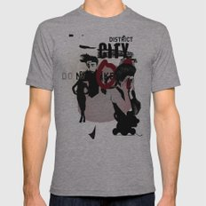 CITY Mens Fitted Tee Athletic Grey SMALL