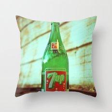 Nostalgic 7up bottle Throw Pillow