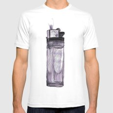 Briquet White Mens Fitted Tee SMALL