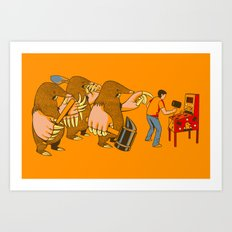 ATTACK OF THE MOLE PEOPLE!!! Art Print