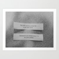 matching fortunes. Art Print