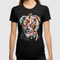 Ai Chan Womens Fitted Tee Tri-Black SMALL