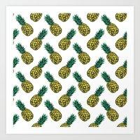 Neo-Pineapple - Pineappl… Art Print
