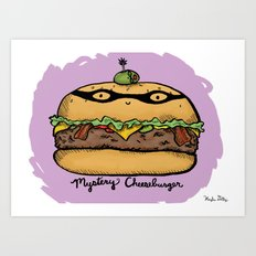 Mystery Cheeseburger Art Print