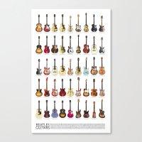 Fab Four Guitars Canvas Print