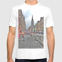 Edinburgh Mens Fitted Tee White SMALL
