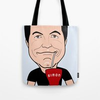 Simon Cowell - the first American Idol Judge Tote Bag