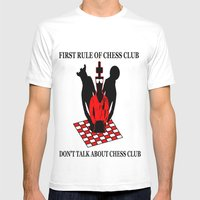 First Rule Of Chess Club Mens Fitted Tee White SMALL