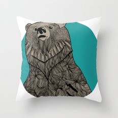 Beary Sketch Throw Pillow