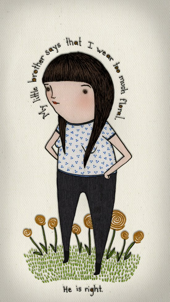 What I Wore Today Art Print