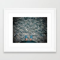 Cannes by foot Framed Art Print
