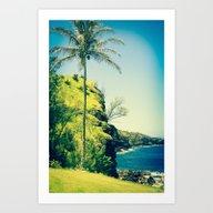 Kahakuloa Beach Palm Mau… Art Print