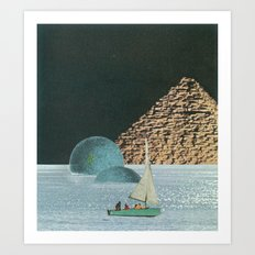 Heaven In A Little Boat Art Print