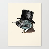 Mr. Fish Canvas Print