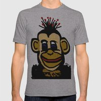 Monkey business Mens Fitted Tee Athletic Grey SMALL