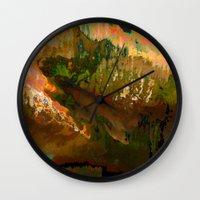 06-04-18 (Mountain Glitc… Wall Clock