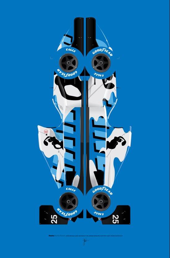 Martin Brundle, Ligier JS39-Renault, 1993 Japanese Grand Prix, Hugo Pratt livery Art Print