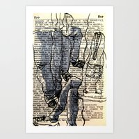 Pocket Sized Dictionary … Art Print