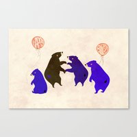 A Sleepy bear birthday Canvas Print