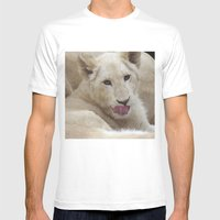 White Lion Cub - The Next Generation! Mens Fitted Tee White SMALL