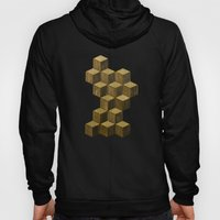 Optical wood cubes Hoody