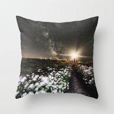 Galactic Lighthouse Throw Pillow