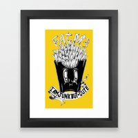 EAT ME! Framed Art Print
