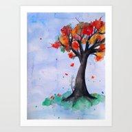Art Print featuring Autumn Begins by DuckyB (Brandi)