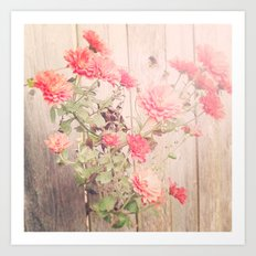 Flowers on the Wall Art Print