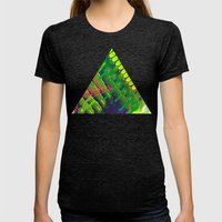 Wave green Womens Fitted Tee Tri-Black SMALL