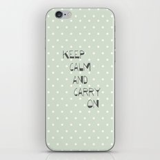 Keep Calm and Carry on ~ polka dot ~ poster ~ typography ~ illistration iPhone & iPod Skin