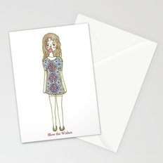blow the wishes Stationery Cards